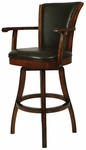 Glenwood 30''H Brown Swivel Barstool [GL-217-30-RD-867-FS-PSTL]