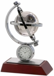 Global II Desk Clock - Mahogany [C1017-FS-DAC]