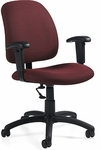 Goal QuickShip Low Back Task Chair with Arms and Casters [2237-6-FS-GLO]
