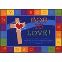 Alphabet Border God is Love Learning Rug