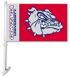 Gonzaga Bulldogs Car Flag with Wall Brackett [97078-FS-BSI]