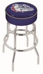 Gonzaga University 25'' Chrome Finish Double Ring Swivel Backless Counter Height Stool with 4'' Thick Seat [L7C125GONZGA-FS-HOB]