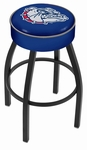 Gonzaga University 25'' Black Wrinkle Finish Swivel Backless Counter Height Stool with 4'' Thick Seat [L8B125GONZGA-FS-HOB]