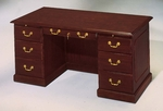 Governors 60'' W Executive Desk - Engraved Executive Mahogany [7350-30-FS-DMI]