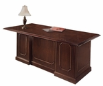 Governors72'' W Executive Desk - Engraved Executive Mahogany [7350-36-FS-DMI]