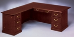 Governors72'' W Left Executive L Desk - Engraved Executive Mahogany [7350-56-FS-DMI]
