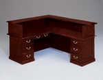 Governors72'' W Right Reception L Desk - Engraved Executive Mahogany [7350-655-FS-DMI]