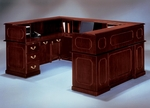 Governors72'' W Right Reception U Desk - Engraved Executive Mahogany [7350-657-FS-DMI]