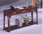 Governors Sofa Table - Engraved Executive Mahogany [7350-82-FS-DMI]