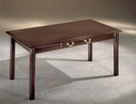 Governors Table Desk - Engraved Executive Mahogany [7350-88-FS-DMI]