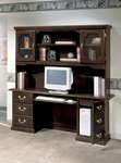 Governors Tower CPU Computer Credenza - Engraved Executive Mahogany [7350-22-FS-DMI]