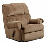 Grace Contemporary Style Polyester Rocker Recliner with Handle Pull - Tahoe Bark [478700-TB-FS-CHEL]
