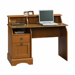 Graham Hill 47''W x 36''H Wooden Desk with Sunset Granite Style Top - Autumn Maple [408761-FS-SRTA]