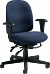Granada Low Detailed Back Multi Tilter Task Chair with Arms and Casters - Grade 3 [3202-GR3-FS-GLO]