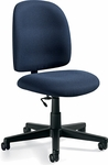 Granada Low Back Task Plain Back Armless Chair with Casters - Grade 3 [3254-GR3-FS-GLO]