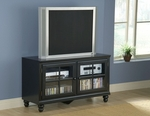 Grand Bay Wood 48''W x 27''H Entertainment Console with Glass Front Doors - Black [6123-885W-FS-HILL]