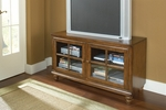 Grand Bay Wood 48''W x 27''H Entertainment Console with Glass Front Doors - Warm Brown [6179-885W-FS-HILL]