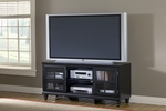 Grand Bay Wood 61''W x 27''H Entertainment Console with Glass Front Doors - Black [6123-880W-FS-HILL]