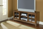 Grand Bay Wood 61''W x 27''H Entertainment Console with Glass Front Doors - Warm Brown [6179-880W-FS-HILL]