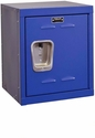 Grand Slam Blue Kids Mini Locker Unassembled - 15''W x 15''D x 24''H