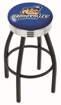 Grand Valley State University 25'' Black Wrinkle Finish Swivel Backless Counter Height Stool with Ribbed Accent Ring [L8B3C25GVSTUN-FS-HOB]