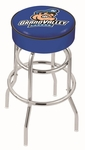 Grand Valley State University 25'' Chrome Finish Double Ring Swivel Backless Counter Height Stool with 4'' Thick Seat [L7C125GVSTUN-FS-HOB]