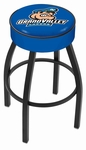 Grand Valley State University 25'' Black Wrinkle Finish Swivel Backless Counter Height Stool with 4'' Thick Seat [L8B125GVSTUN-FS-HOB]