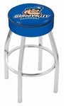 Grand Valley State University 25'' Chrome Finish Swivel Backless Counter Height Stool with 4'' Thick Seat [L8C125GVSTUN-FS-HOB]