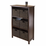 Granville 7-Pc Storage Shelf with 3 Sections and 6 Foldable Baskets [94181-FS-WWT]