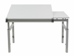 Graphix II Height Adjustable Split Top Multi Purpose 36''W x 24''D Workstation - White [10211-FS-SDI]