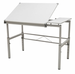 Graphix II Height Adjustable Split Top Multi Purpose 42''W x 30''D Workstation - White [10210-FS-SDI]