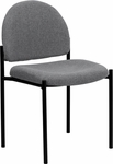 Gray Fabric Comfortable Stackable Steel Side Chair [BT-515-1-GY-GG]