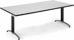 36'' D x 72'' W Mesh Base Conference Table - Gray Nebula [KT3672MB-GRYNB-FS-MFO]