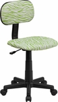 Green and White Zebra Print Swivel Task Chair [BT-Z-GN-GG]