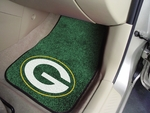 Green Bay Packers Carpet Car Mat 2 Pc 18'' x 27'' [5754-FS-FAN]