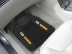 Green Bay Packers Deluxe Car Mat 2 Pc 20'' x 27'' [13498-FS-FAN]