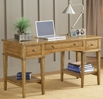 Gresham Wood 56''W x 31''H Desk with Multiple Storage - Medium Oak [4337-861S-FS-HILL]