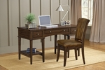 Gresham Wood 56''W x 38.5''H Desk and Stationary Chair Set - Cherry [4379GD-FS-HILL]