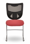 Grid 300 Series Armless Mesh Back Guest Chair with Sled Base [GR233-FS-SEA]