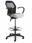 Grid 300 Series Medium Round Back Single Shift Quick Set Back Height Stool [GR221-Q22-FS-SEA]