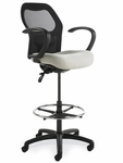 Grid400 Series Medium Round Back Multiple Shift Quick Set Back Height Stool [GR321-Q32-FS-SEA]