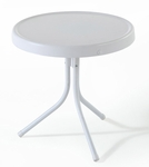 Griffith Metal 20'' Side Table in White Finish [CO1011A-WH-FS-CRO]