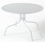 Griffith Metal 40'' Dining Table in White Finish [CO1012A-WH-FS-CRO]