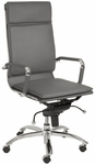 Gunar Pro High Back Office Chair in Gray [01264GRY-FS-ERS]