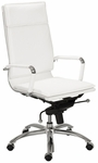 Gunar Pro High Back Office Chair in White [01264WHT-FS-ERS]