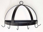 Half-Dome Wall Mount Pot Rack with 6 Hooks [HDR-20-FS-GCM]