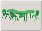 Half-Moon Preschool Table and Chair Sets