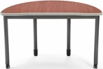 Mesa 23.75'' D x 47.25'' W Half Round Table - Cherry [66180-CHY-MFO]