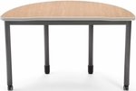 Mesa 23.75'' D x 47.25'' W Half Round Table - Maple [66180-MPL-MFO]