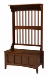 Hall Tree w/ Storage Bench [84017WALC-01-KD-U-FS-LIN]